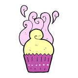 Comic cartoon cupcake Stock Images