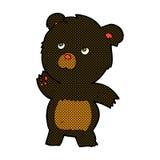 comic cartoon curious black bear Stock Photo