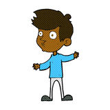 Comic cartoon curious boy Royalty Free Stock Image