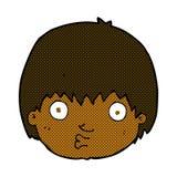 comic cartoon curious boy Stock Photography