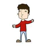 comic cartoon curious man Stock Image