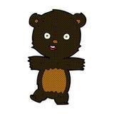 comic cartoon cute black bear cub Stock Photography