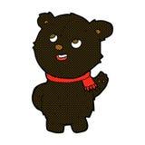 comic cartoon cute black bear cub Royalty Free Stock Photography