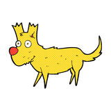 Comic cartoon cute little dog Stock Photography