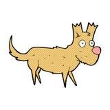 Comic cartoon cute little dog Royalty Free Stock Image