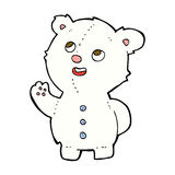 Comic cartoon cute polar bear cub. Retro comic book style cartoon cute polar bear cub Stock Photos