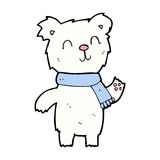 Comic cartoon cute polar bear cub. Retro comic book style cartoon cute polar bear cub Royalty Free Stock Images