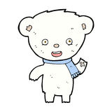 Comic cartoon cute polar bear. Retro comic book style cartoon cute polar bear Stock Photo