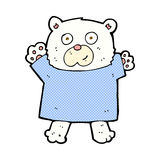 Comic cartoon cute polar bear. Retro comic book style cartoon cute polar bear Royalty Free Stock Image