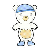 Comic cartoon cute polar bear. Retro comic book style cartoon cute polar bear Royalty Free Stock Images