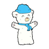 Comic cartoon cute polar bear. Retro comic book style cartoon cute polar bear Stock Images