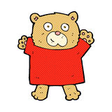 Comic cartoon cute teddy bear. Retro comic book style cartoon cute teddy bear Stock Images
