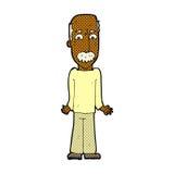 Comic cartoon dad shrugging shoulders. Retro comic book style cartoon dad shrugging shoulders Royalty Free Stock Photo