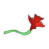 Comic cartoon daffodil flower Stock Photography