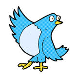 Comic cartoon dancing bluebird Royalty Free Stock Photo