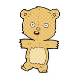 Comic cartoon dancing teddy bear. Retro comic book style cartoon dancing teddy bear Royalty Free Stock Images