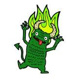 Comic cartoon demon Royalty Free Stock Photos