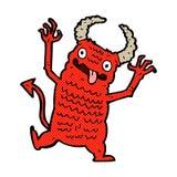 Comic cartoon demon Royalty Free Stock Photo