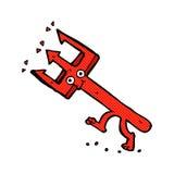 Comic cartoon devil fork Stock Photo