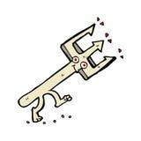 Comic cartoon devil fork Stock Image