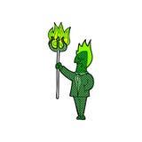 comic cartoon devil with pitchfork Stock Photos