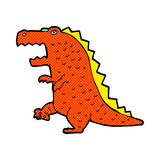 Comic cartoon dinosaur. Retro comic book style cartoon dinosaur Stock Photos
