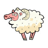 Comic cartoon dirty sheep Royalty Free Stock Photos