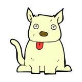comic cartoon dog sticking out tongue Royalty Free Stock Photos