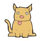 comic cartoon dog sticking out tongue Stock Photos