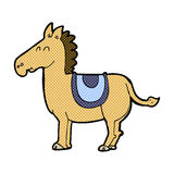 comic cartoon donkey Stock Image