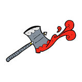 Comic cartoon double sided axe Royalty Free Stock Photo