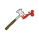 Comic cartoon double sided axe Royalty Free Stock Images