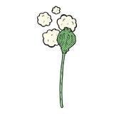 Comic cartoon dried poppy. Retro comic book style cartoon dried poppy royalty free illustration