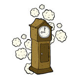 Comic cartoon dusty old grandfather clock Stock Photo