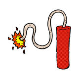 comic cartoon dynamite burning Royalty Free Stock Photography