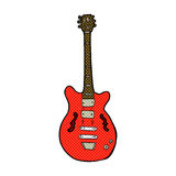 comic cartoon electric guitar Stock Images