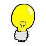 Comic cartoon electric light bulb Royalty Free Stock Images