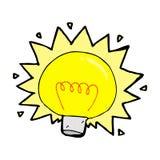 Comic cartoon electric light bulb Stock Photo