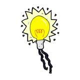 Comic cartoon electric light bulb Royalty Free Stock Photo