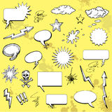 Comic cartoon elements Stock Image