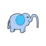 Comic cartoon elephant squirting water Stock Photos