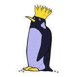 Comic cartoon emperor penguin Royalty Free Stock Photos