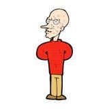 Comic cartoon evil bald man Royalty Free Stock Photos