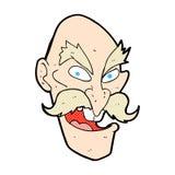 Comic cartoon evil old man face Stock Photography