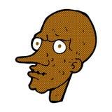 Comic cartoon evil old man Royalty Free Stock Photo