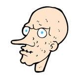 Comic cartoon evil old man Stock Photo