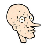 Comic cartoon evil old man Royalty Free Stock Photography