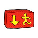 Comic cartoon exit sign Stock Images