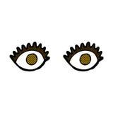 comic cartoon eyes Royalty Free Stock Image