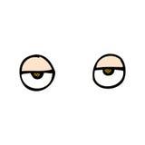 comic cartoon eyes Stock Photos